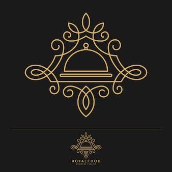 ロイヤルフード-高級レストランのロゴのテンプレート