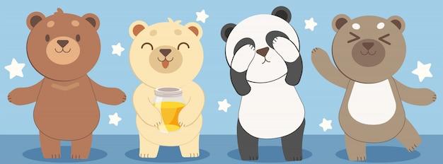 Дизайн персонажей медведя