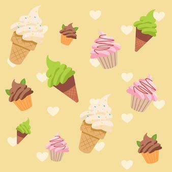 Набор шаблонов мороженого