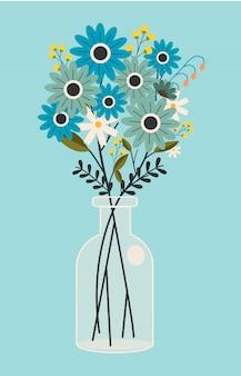 瓶の中の花