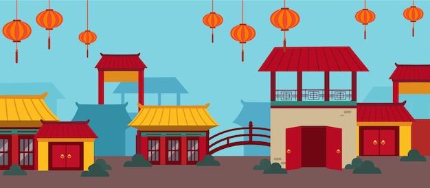 幸せな中国の新年カードセット
