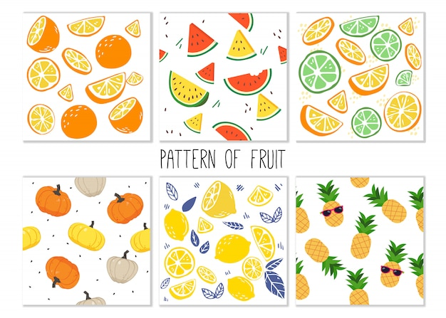 フルーツセットのパターン。