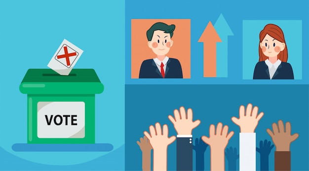 選挙セットに投票