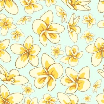 花の要素のシームレスな背景。