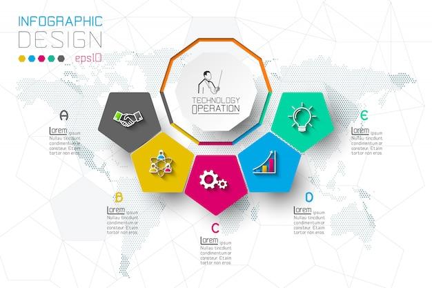 Варианты бизнес-шага и абстрактная инфографика
