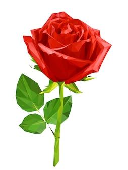 赤い多角形のバラ