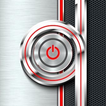 モノクロソリッド材料シートの電源ボタンをオン/オフします。