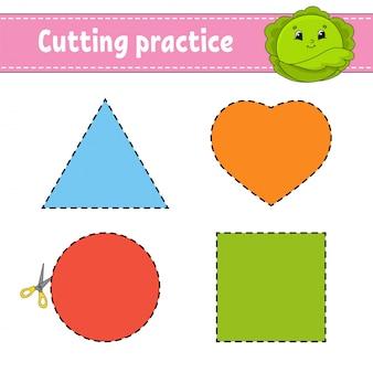 Режущие практики для детей.
