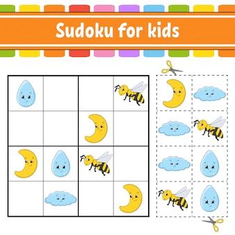 Судоку для детей. рабочий лист развития образования.