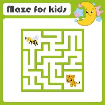 Забавный лабиринт игра для детей. пазл для детей.