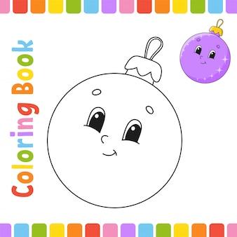 Книжка-раскраска для детей. веселый характер. векторная иллюстрация милый мультяшный стиль