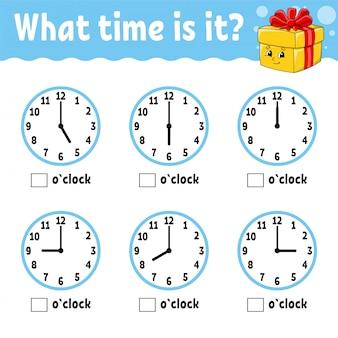 Время обучения на часах. рабочая тетрадь для детей и малышей.