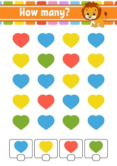 Подсчет игры для детей. счастливые персонажи.