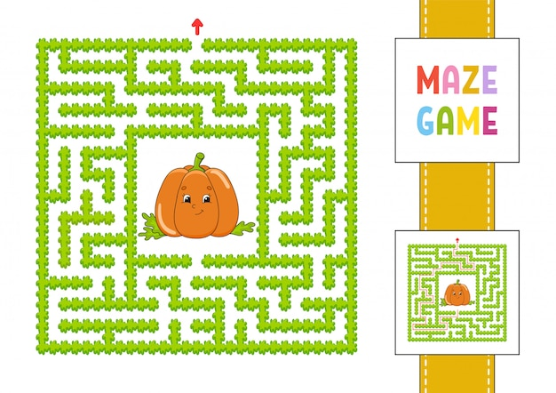 迷路。子供向けのゲーム。面白い迷路。教育開発ワークシート。アクティビティページ。
