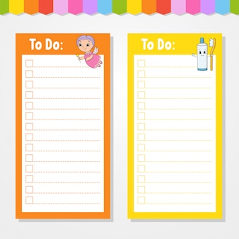 Сделать список для детей с мультиком