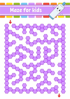 長方形の紫の迷路