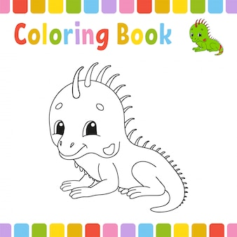 子供向けの塗り絵ページ。