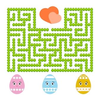 色の抽象的な迷路。子供のワークシート。活動ページ。子供のためのゲームパズル。
