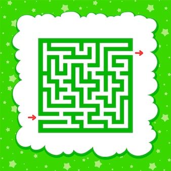 色の正方形の迷路。子供のためのゲーム。子供のためのパズル。