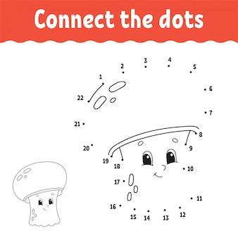ドットにドット。線を引きます。手書きの練習子供のための数字を学ぶ。教育開発ワークシート活動ページ幼児や未就学児のためのゲーム。