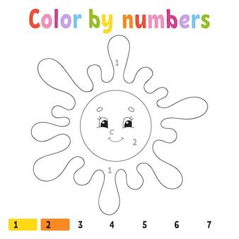 数字による色分け