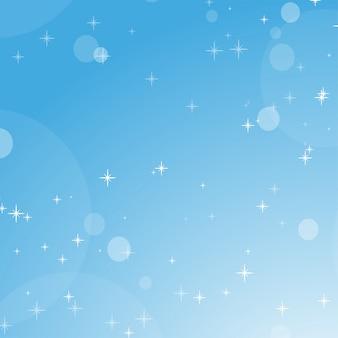ボケ味と星と青い空の色の抽象的な背景。