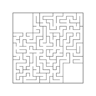 抽象的な正方形の迷路。