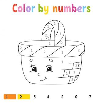 数字による色。