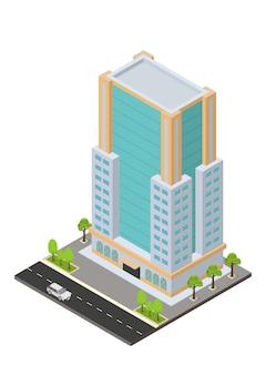 等尺性のホテル、アパート、または高層ビル