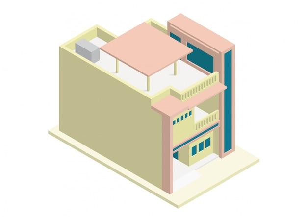 Изометрические современный дом