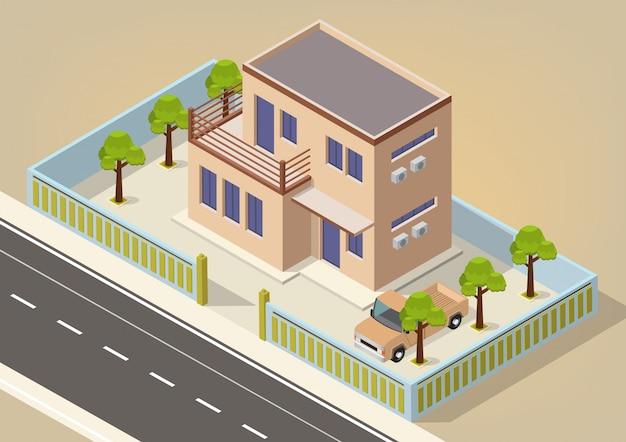 ベクトル等尺性のモダンな家
