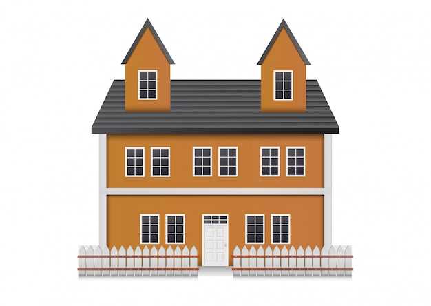 現実的な家の正面。