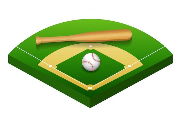 Изолированная иллюстрация бейсбольного поля