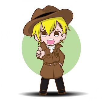 かわいいトレーナーの漫画のキャラクター