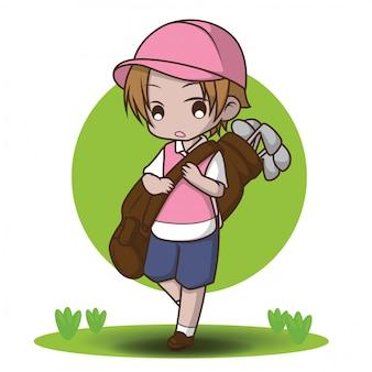 かわいいキャディーの漫画のキャラクター
