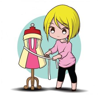 かわいいデザイナー漫画のファッション