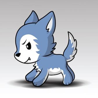 Милый мультфильм волк