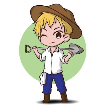 かわいい庭師キャラクター