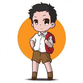 Симпатичный подросток студент характер