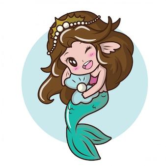 Симпатичная девушка костюм русалки