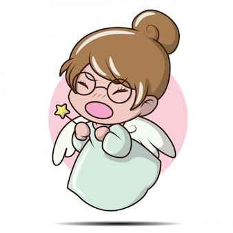 妖精の衣装でかわいい女の子。