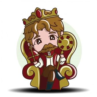 Милый мультфильм молодой принц. сказка мультфильм концепции.