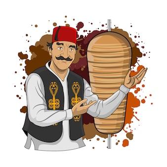 Турецкий кебаб ларне