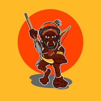 パプア部族長