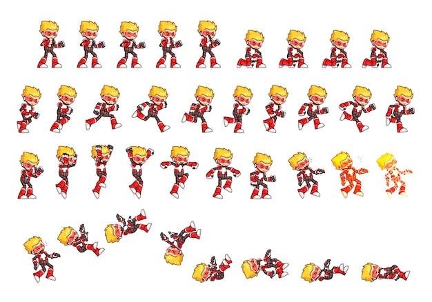赤いロボットのゲームスプライト