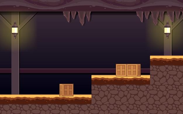 幽霊のあるダンジョンゲームの背景