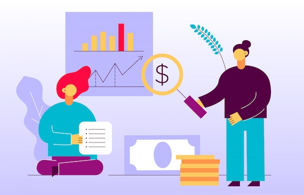 Вектор финансов и бизнес-стратегии веб-дизайн баннера