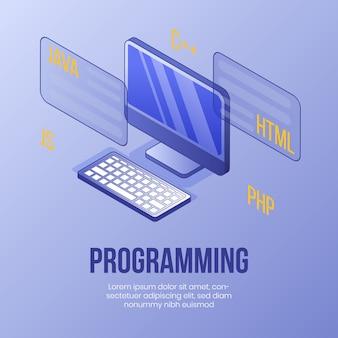 Концепция цифрового изометрического дизайна