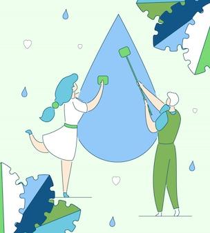 きれいな水の生産コンセプト