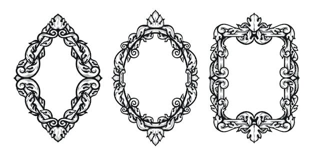 Декоративная рамка в стиле барокко